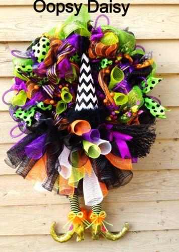 Halloween-Witch-Wreath-Mesh-Witch-Wreath-Witch-Legs-Wreath-Tutu-Witch-Wreath