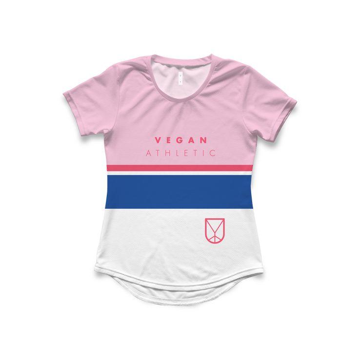 Women's Tech-Tee / Top Stripe Pink