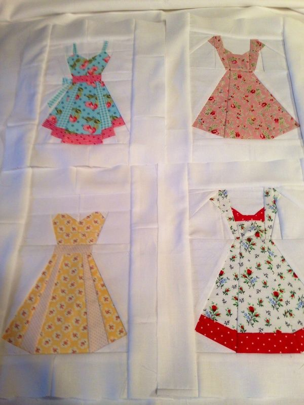 October 25 - Featured Quilts on 24 Blocks - 24 Blocks. Charise Creats paper pieced dresses