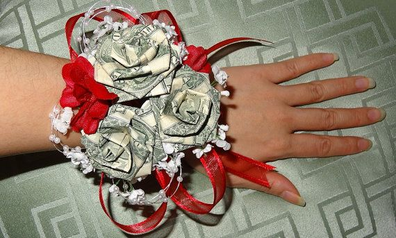 Origami Money Corsage For Wedding Anniversary Prom
