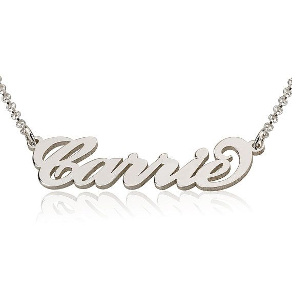 Custom name necklace Sterling silver name necklace