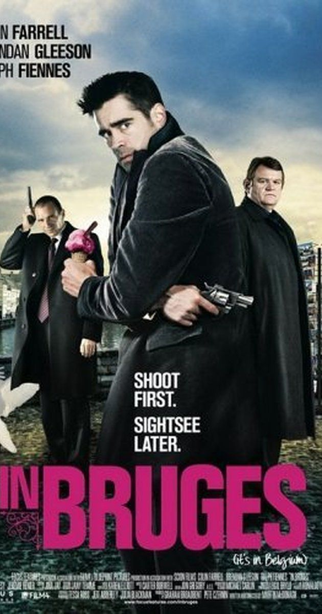 Directed by Martin McDonagh.  With Colin Farrell, Brendan Gleeson, Ciarán Hinds, Elizabeth Berrington. Guilt-stricken after a job gone wrong, hitman Ray and his partner await orders from their ruthless boss in Bruges, Belgium, the last place in the world Ray wants to be.