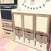 My Shelf/ダイソー/カラーボックス/ニトリ/おもちゃ収納/キッズスペース...などのインテリア実例 - 2017-05-07 01:22:19