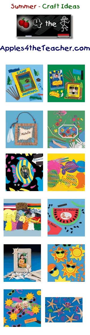 Fun Summer crafts for kids - Summer craft ideas for children. www.apples4thetea...