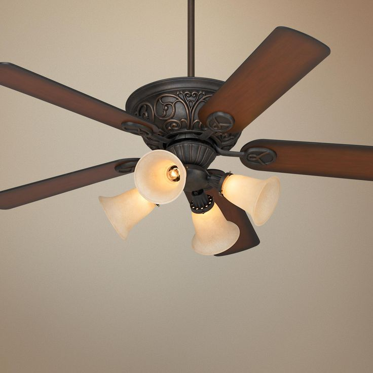 52 casa contessa bronze ceiling fan with light kit lampsplus com