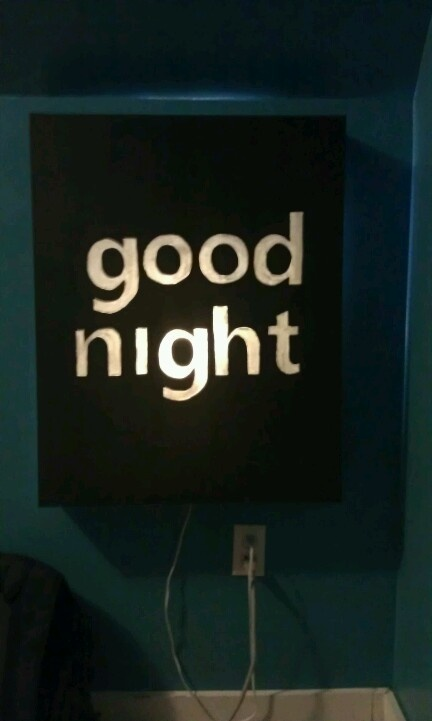 Good Night Light Up Canvas nightlight, but maybe with Buona Notte