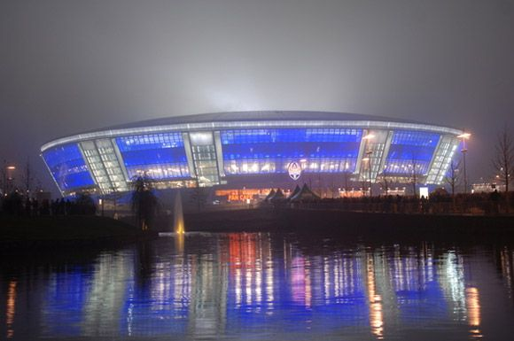 Donbass Stadium, home of Shakhtar Donetsk, Ukraine
