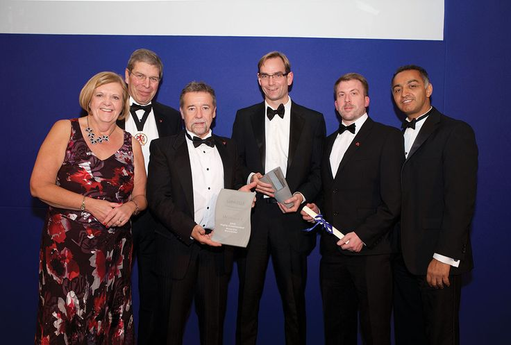 The team from Hodder & Partners accepted the Highly Commended award for Motel One, Manchester.