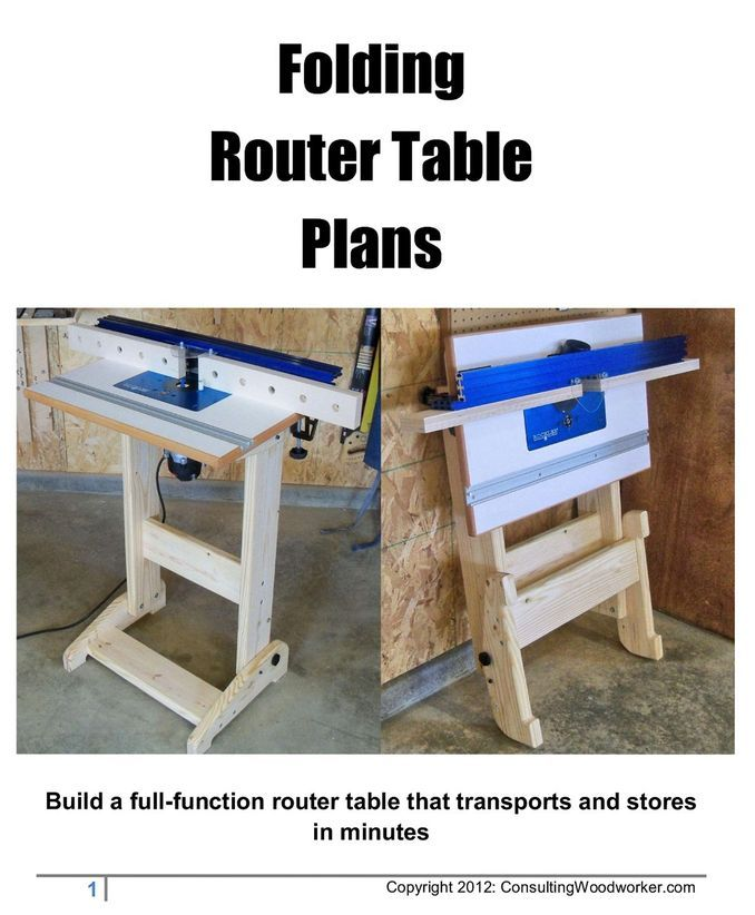 Finally, a full sized, full function router table that folds easily and quickly for storage or transport. These 25 page, full color plans show you how to laminate the top, construct the aluminum-bodied fence with split faces as well as build the folding stand. No exotic hardware or materials are needed and you get part numbers and sources for everything so you can find them easily. You even get alternative 'store-bought' options for parts you may not wish to build yourself.