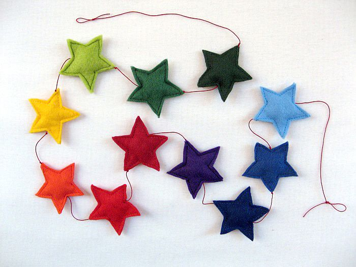 Luloveshandmade: DIY: Felt Star Garland