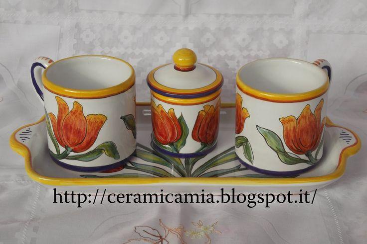 Tazzine da caffe' #Majolica #Italy http://ceramicamia.blogspot.com/p/tazze-tazzine.html