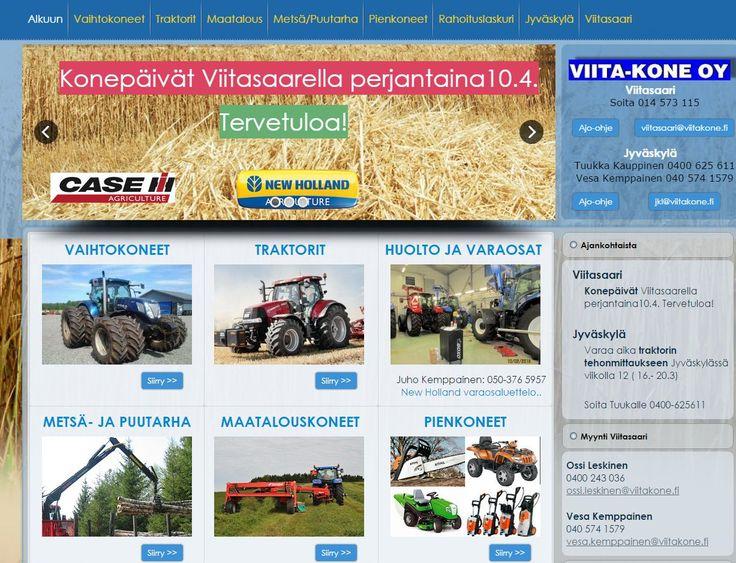 Viitakoneen verkkosivut. New Holland ja Case IH traktorit. Kotisivut: http://www.teamprog.fi/