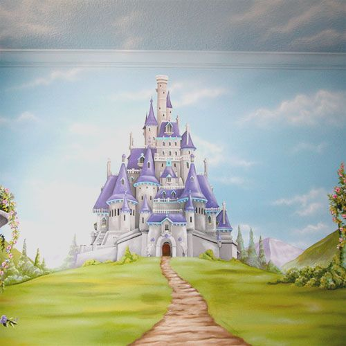 25 best ideas about princess mural on pinterest castle for Disney princess castle mural