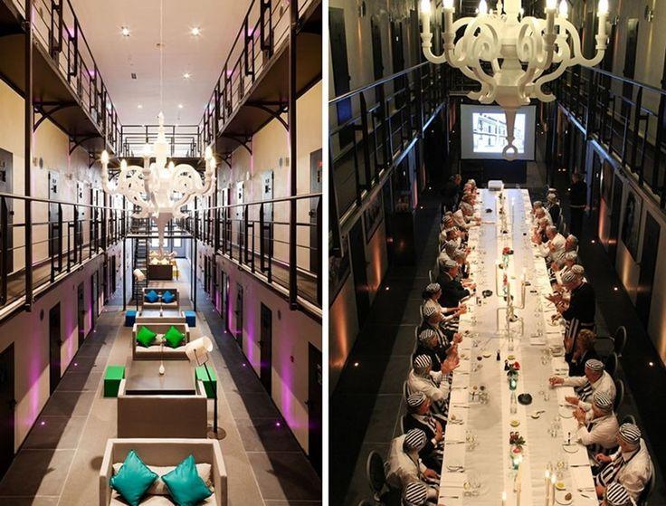 Hollanda'da bulunan Het Arreshuis isimli lüks otel, misafirlerine diğer otellerden oldukça farklı bir atmosferde konaklama imkanı sunuyor.1863-2007 yılları arasında hapishane olarak hizmet veren otelin 150 hücresi, 36 lüks oda ve suite dönüştürülmüş.  forumcad.com