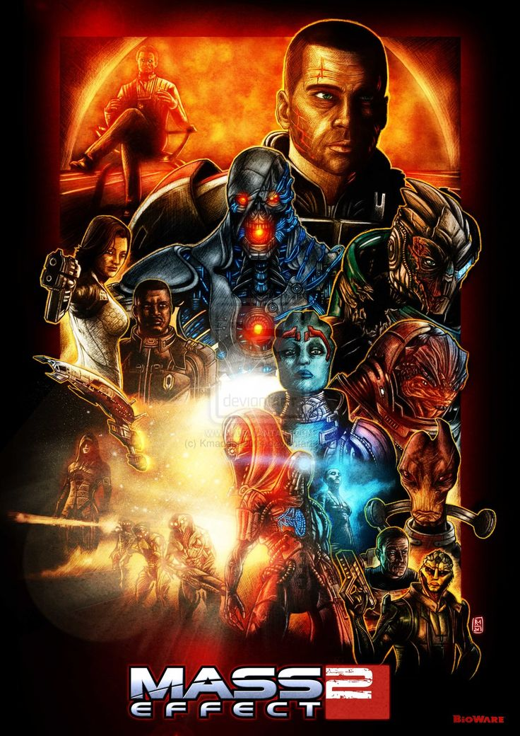 Mass Effect Trilogy Fan-Art Done In The Style of Star Wars Posters by *Kmadden2004 on deviantART