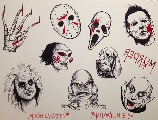 Pin By Veronica Garcia On Tattoos Body Art Spooky Tattoos Scary Tattoos Movie Tattoos
