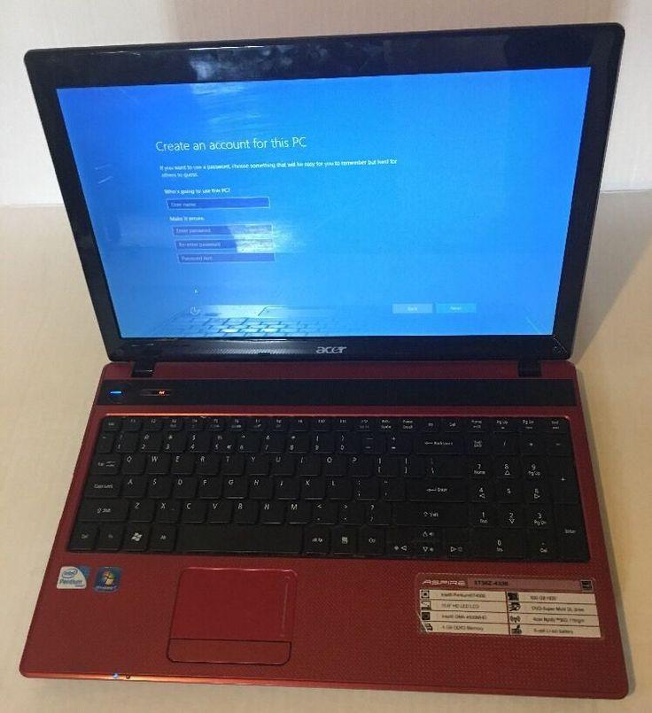 "Acer Aspire Laptop Computer 15.6"" 500GB 4GB Intel Pentium Model 5736Z-4336 Red    eBay"