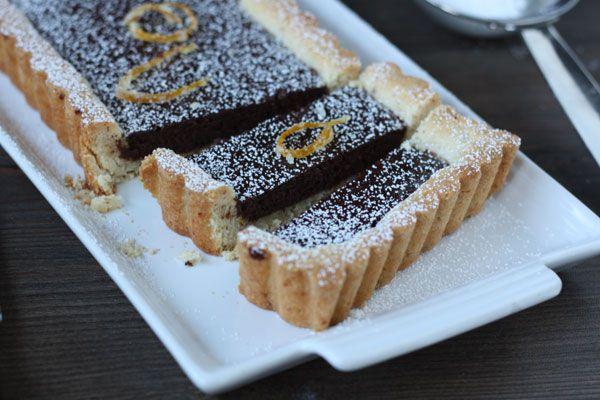 Dark Chocolate and Orange Tart via DessArts