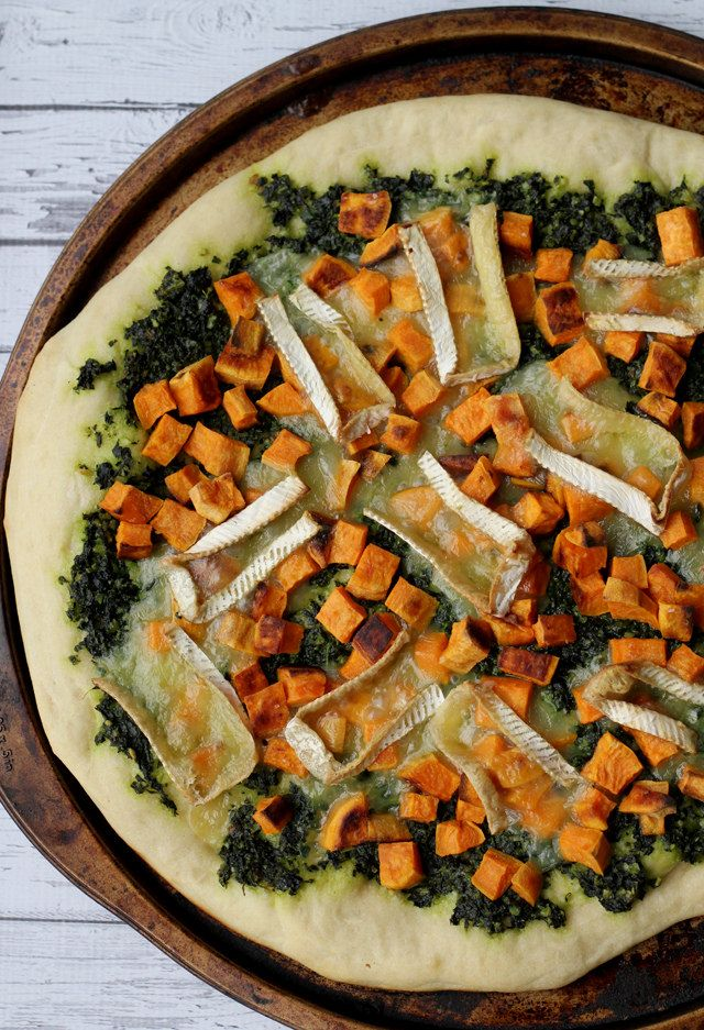 Sweet Potato Pizza With Kale And Caramelized Onions Recipe ...