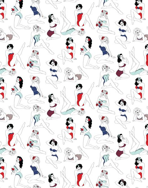 Pin-Up Wallpaper, Color
