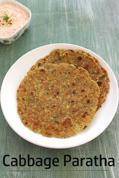 Cabbage paratha recipe - HEALTHY, EASY paratha made by adding grated cabbage and few spices directly into the dough. This is perfect as a breakfast or light meal.