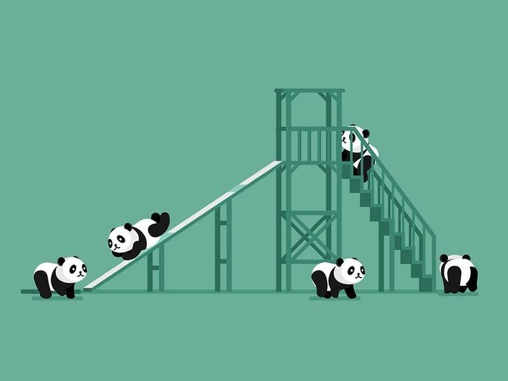 Baby Panda Slide by Chris Phillips