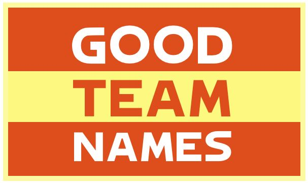 Good team names for sports teams, business, trivia teams, and more.