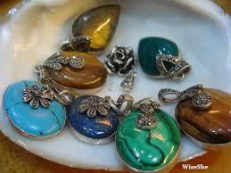 Image result for jaipur stone pendants