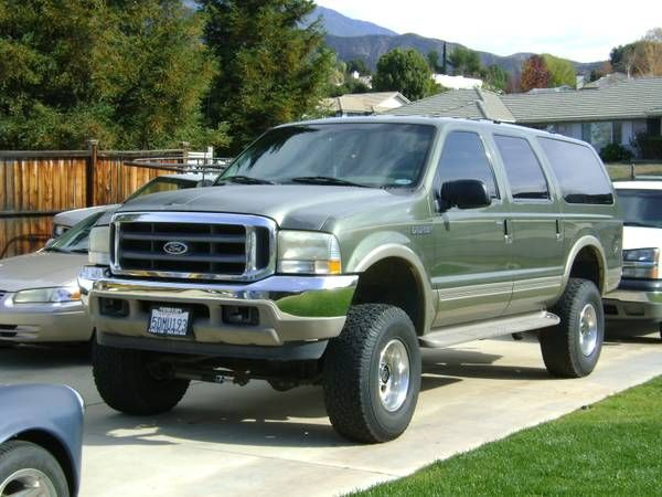 Make:  Ford Model:  Excursion Year:  2000 Body Style:  4WD/SUVs Exterior Color: Green Interior Color: Beige Doors: Four Door Vehicle Condition: Excellent Phone:   909-363-5022  For MOre Info Visit: http://UnitedCarExchange.com/a1/2000-Ford-Excursion-322209987576
