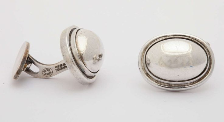 Art Deco Sterling Silver Cufflinks | From a unique collection of vintage cufflinks at https://www.1stdibs.com/jewelry/cufflinks/cufflinks/