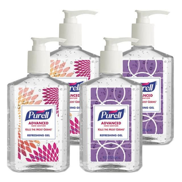 Advanced Instant Hand Sanitizer Gel Lemon Scent 8 Oz Pump Bottle