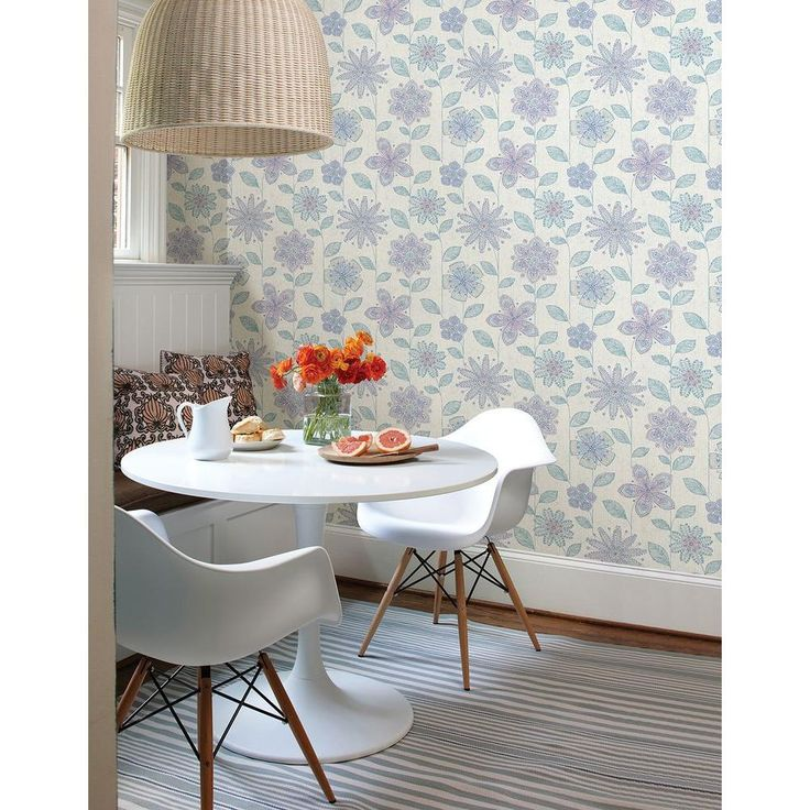 27 best images about wallpaper borders for kitchen on - Floral wallpaper home depot ...
