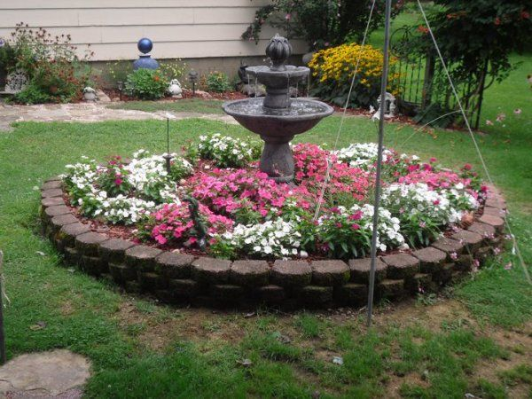 Planning A Garden In The Round With Images Bird Bath Garden