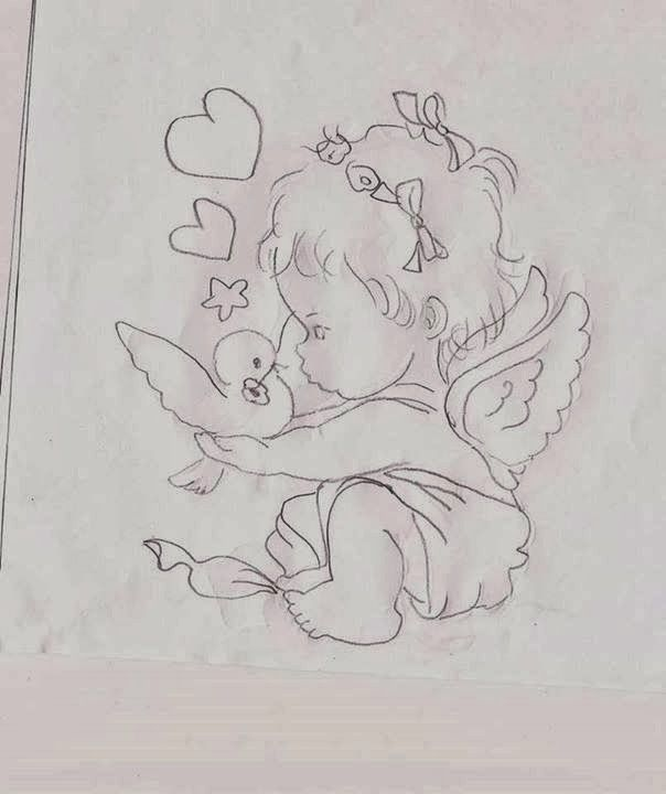 .T T baby angel and bird