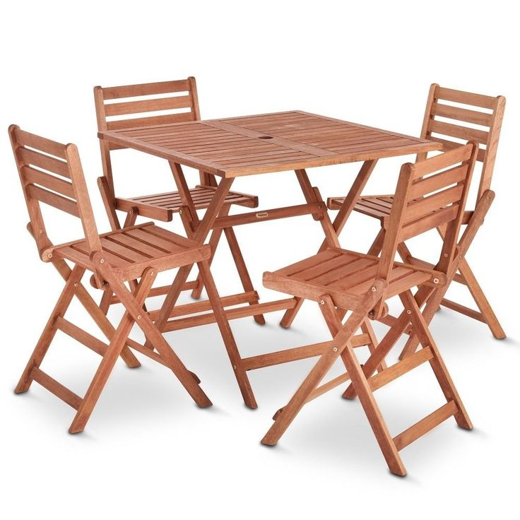 Wooden Garden Table And Chairs Part - 50: Garden Patio Dining Set Table Chairs Wooden Outdoor Garden Patio Furniture  5PC