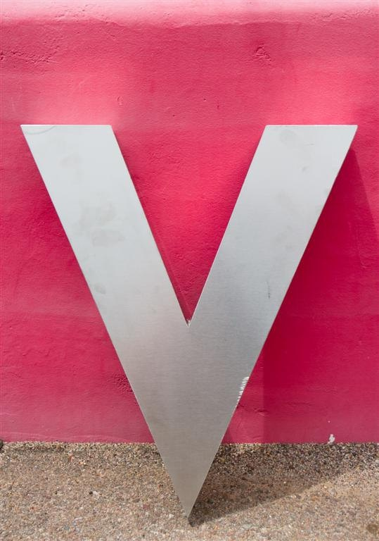 Wall Decor Letter V : Large metal letter v wall decor signage stainless
