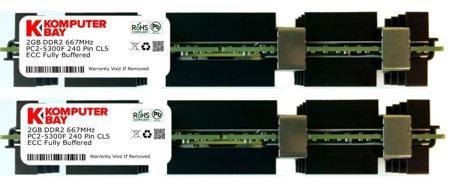 KOMPUTERBAY 4GB (2X2GB) APPLE MAC PRO MEMORY DDR2 667 FB DIMM RAM PC2-5300  — 1922 руб. —