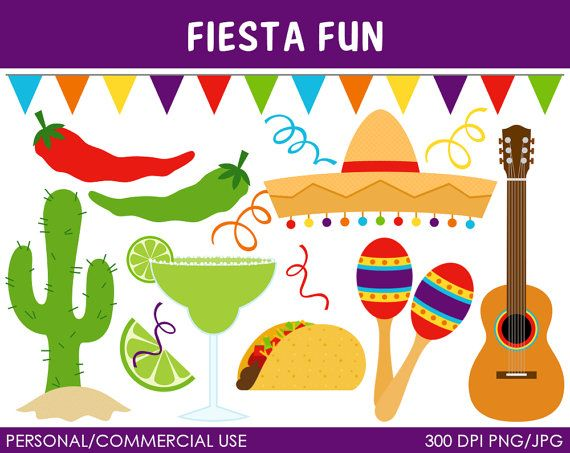 Fiesta Fun Clipart  Digital Clip Art Graphics for by MareeTruelove, $5.00