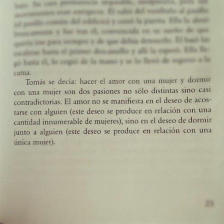 ...La insoportable levedadad del ser-Milan Kundera