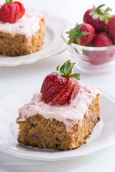 The Best Vegan Strawberry Cake ever! You'll want to make this dessert recipe time and time again!
