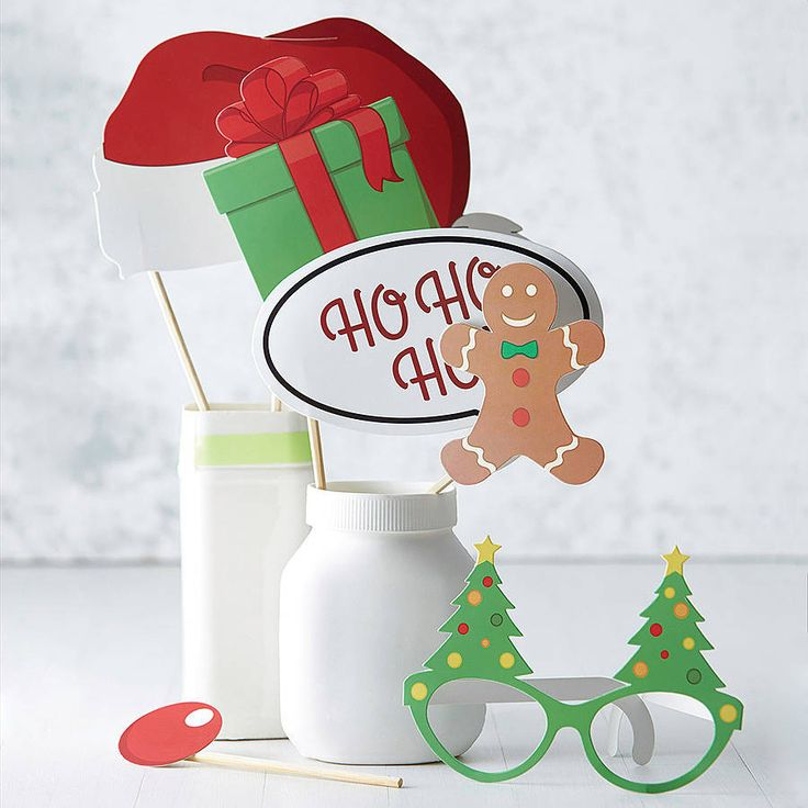 christmas photo booth party prop kit by ginger ray | notonthehighstreet.com