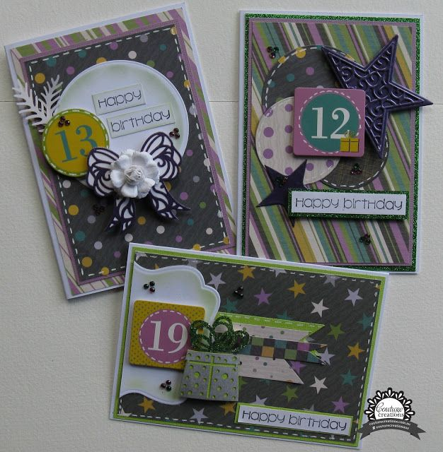 Artdeco Creations Brands, Happy Birthday Card Set by Jo Simons using Be Merry Christmas Collection