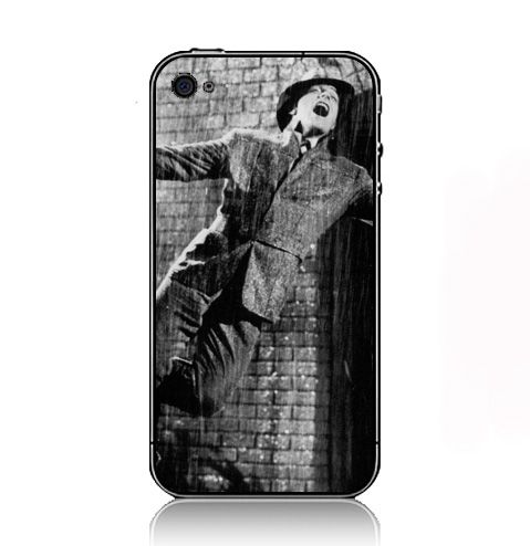 Movies Rain Grayscale Umbrellas Singing Singing In The Rain Gene Kelly   iPhone 4 4S Case Cover  674