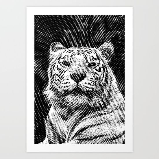 Tiger Art Print by Cornflowerz. Worldwide shipping available at Society6.com. Just one of millions of high quality products available.