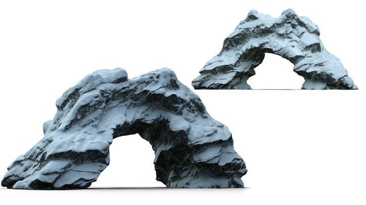 ArtStation - Rock collection Vol.3 winter rocks, Alen Vejzovic