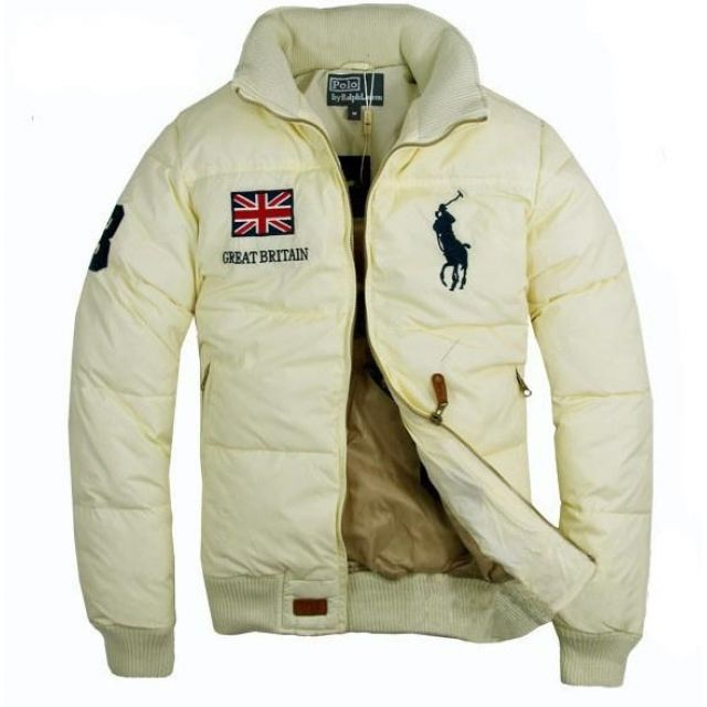 1004 Ralph Lauren Men chaqueta acolchada en color beige