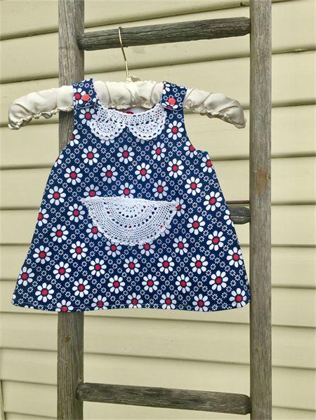 Reversible pinafore aline dress. Size 6-12mths