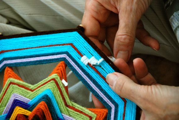 How-Tuesday: Weaving a Complex Ojo de Dios | The Etsy Blog these are fantastic instructions.