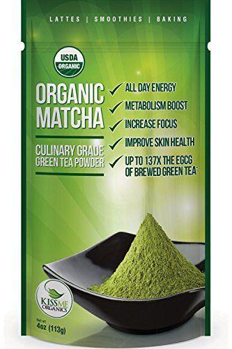 Matcha Green Tea Powder – Powerful Antioxidant Japanese Organic Culinary Grade –…