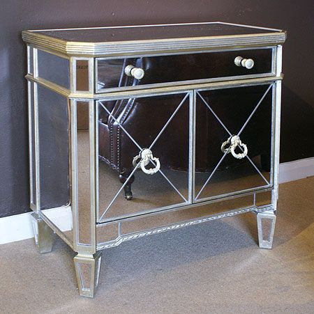 Antique Style Venetian Mirrored Small Sideboard Small